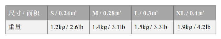 NIJII防弹背心-尺寸&重量