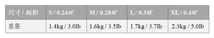 NIJIIIA防弹背心-尺寸&重量