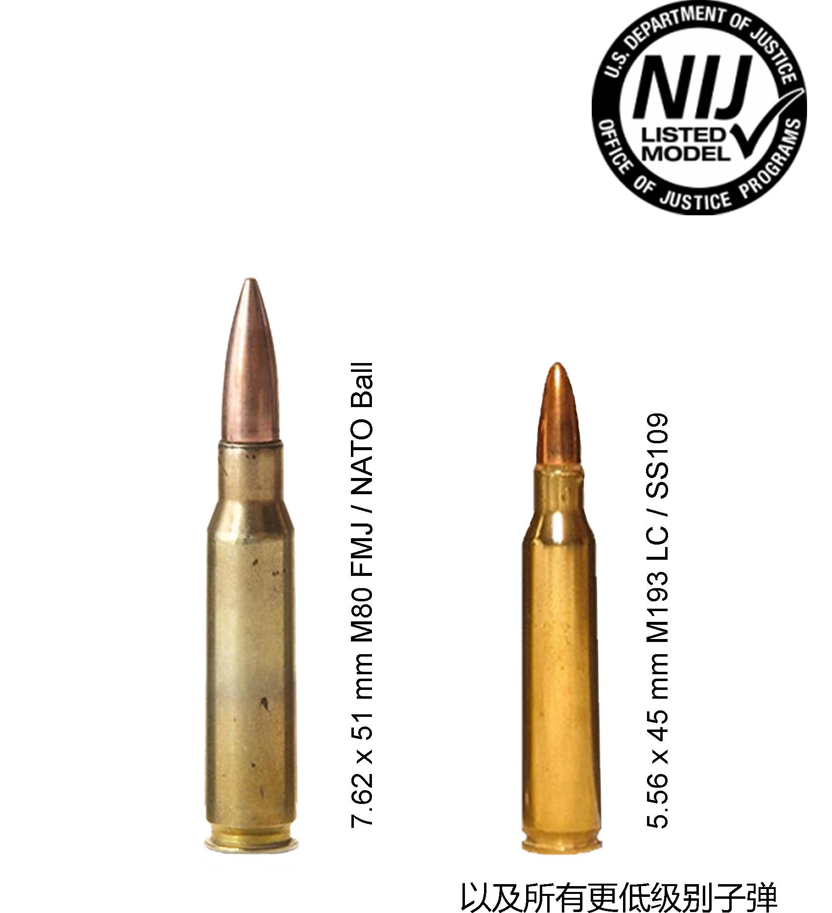 NIJ III级头盔可防御子弹类型