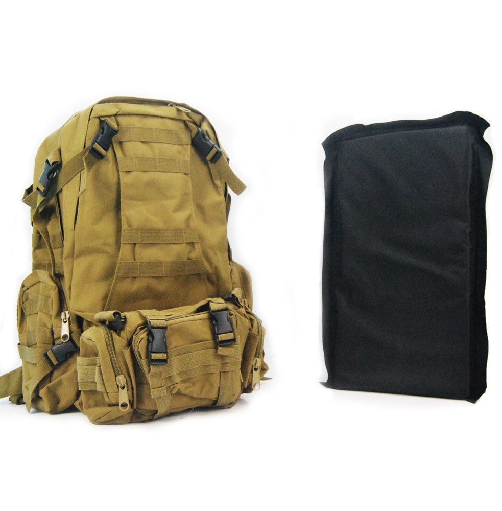 NIJ Level IIIA 超大容量户外防弹背包